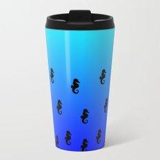 Under the Sea(horse)-Light to Dark Metal Travel Mug