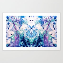 Okul - Abstract Costellation Painting Art Print