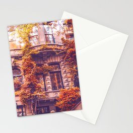 Dressed Up in Autumn - New York City Brownstones Stationery Cards