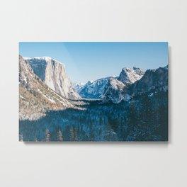 Yosemite Valley in Winter Metal Print
