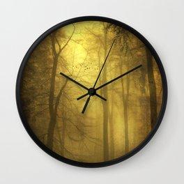 veiled trees Wall Clock
