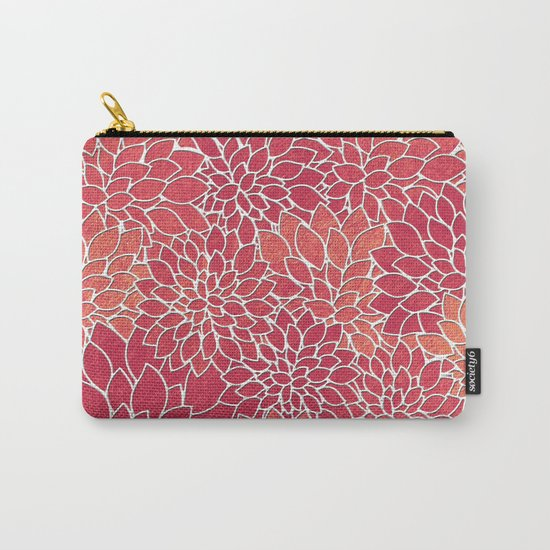 Floral Abstract 24 Carry-All Pouch