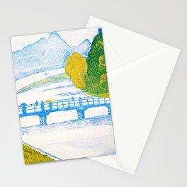 Benkei Bridge Spring Rain - Digital Remastered Edition Stationery Cards