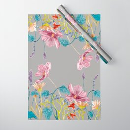 Floral Border - Mute Colours Wrapping Paper