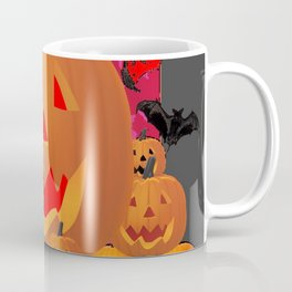 HALLOWEEN JACK O'LANTERNS & BATS ART Coffee Mug