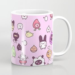 Tamagotchi Pattern Coffee Mug