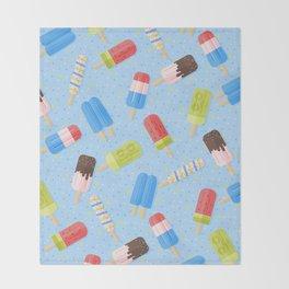 Popsicles Throw Blanket