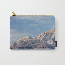 Winter Snow on Flatirons in Boulder Colorado Carry-All Pouch