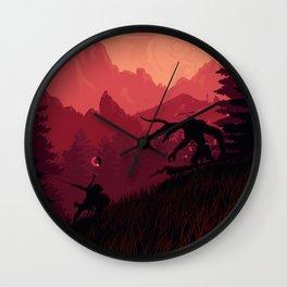 Under A Blood Moon Wall Clock