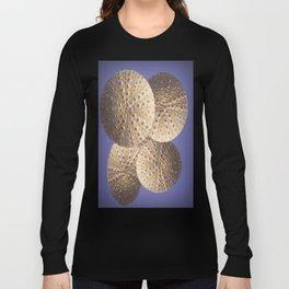 Organic Textured Egg Shell White Sea Urchin Shells Long Sleeve T-shirt