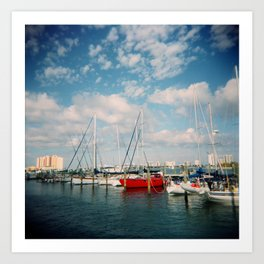 Riviera Beach Marina, Holga Art Print