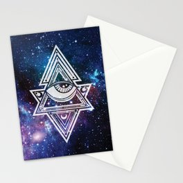 The All Seeing Eye Roll - Deep Space Stationery Cards