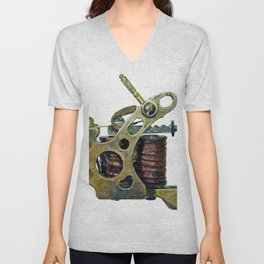 Machine eight Unisex V-Neck