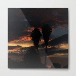 Palms On a Sunset Metal Print