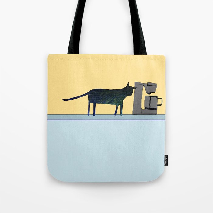 Cat on the Counter Tote Bag
