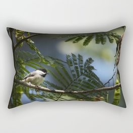 Roosting Black Capped Chickadee Rectangular Pillow