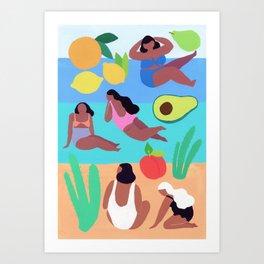 Fruity Beach Art Print