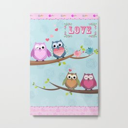 Love Owl Metal Print