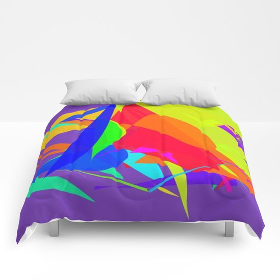 Colourful shapes Comforters