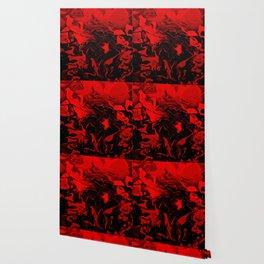 Vampire - red and black gradient swirl pattern Wallpaper