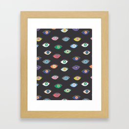 Eyez (Black) Framed Art Print