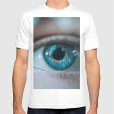 Eye of the storm White Mens Fitted Tee MEDIUM