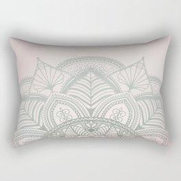 Blush Pink and Mint Mandala Rectangular Pillow