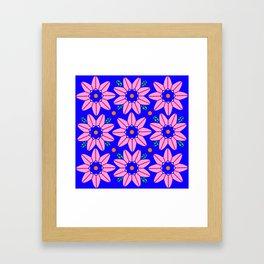 Flower Power 2 Klein Blue Framed Art Print