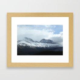 Snowcapped mountains Framed Art Print
