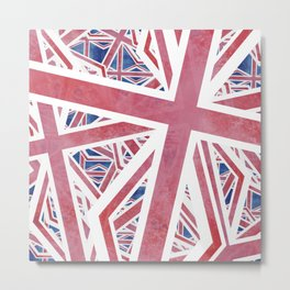 Union Jack Collage Metal Print