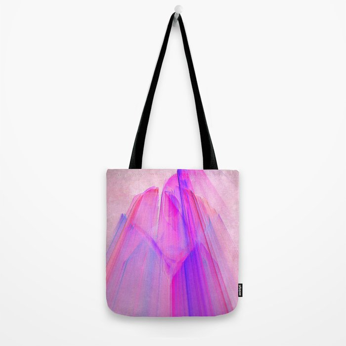 Pink sunset in the glowing city Tote Bag