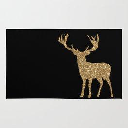 Sparkling golden deer - Wild Animal Animals on #Society6 Rug