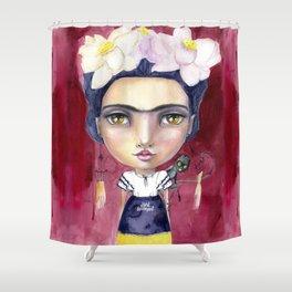 Little Frida by Jane Davenport Shower Curtain