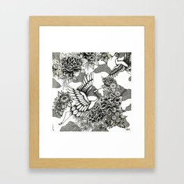 Cranes (B&W) Framed Art Print