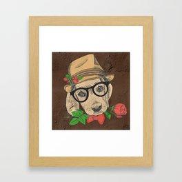 Cute Hipster Pup Framed Art Print