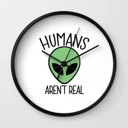 Humans Aren't Real Wall Clock