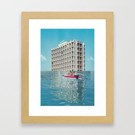 On the edge of the abyss / Civilisation (2014)  Framed Art Print