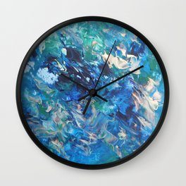 A Boat's Wake Wall Clock
