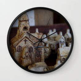 Ceramic Town Wall Clock