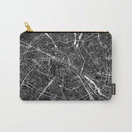 Paris Black Map Carry-All Pouch