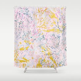 Pine Leaves - abstract pattern Shower Curtain
