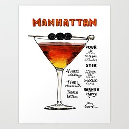 The Drink Collective: Manhattan Art Print