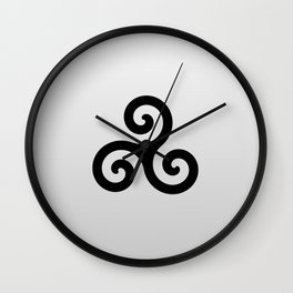 grey triskele Wall Clock