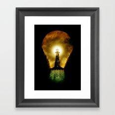 reach for the light Framed Art Print
