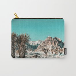 Vintage Lovers Cacti // Red Rock Canyon Mojave Nature Plants and Snow Desert in the Winter Carry-All Pouch