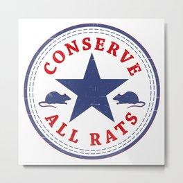 Conserve All Rats Metal Print