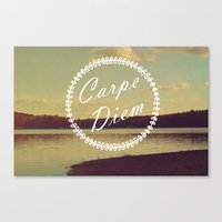 carpe diem Canvas Prints featuring Carpe Diem  by Rachel Burbee