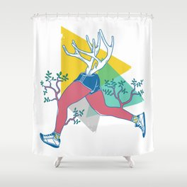 Run like a deer Shower Curtain