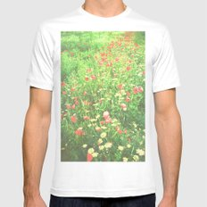 Impressionism White Mens Fitted Tee SMALL