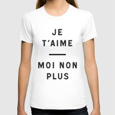 Je t'aime...moi non plus White SMALL Womens Fitted Tee